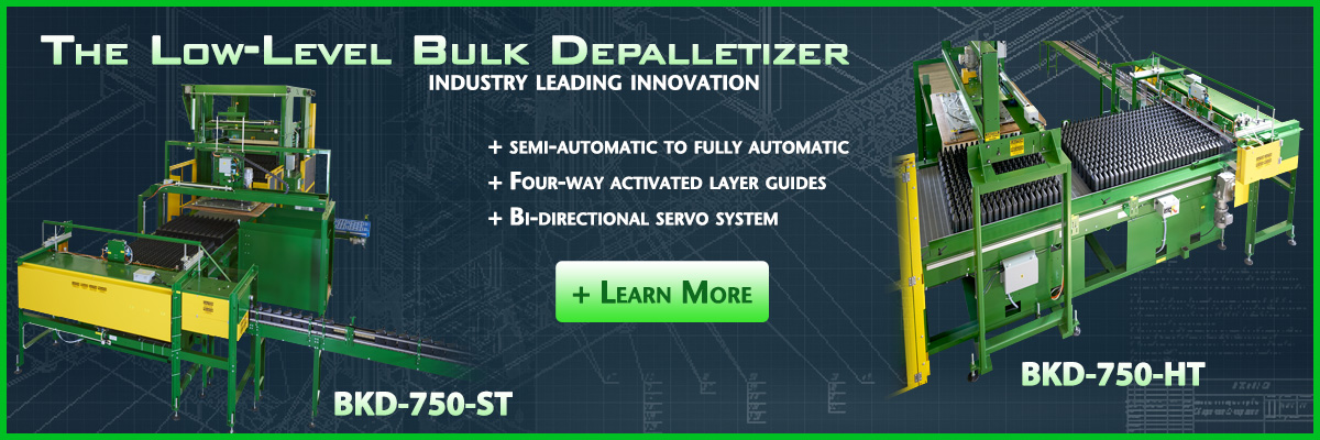 OMS knows palletizers and depalletizers.  If you want information on how we can help you contact us.