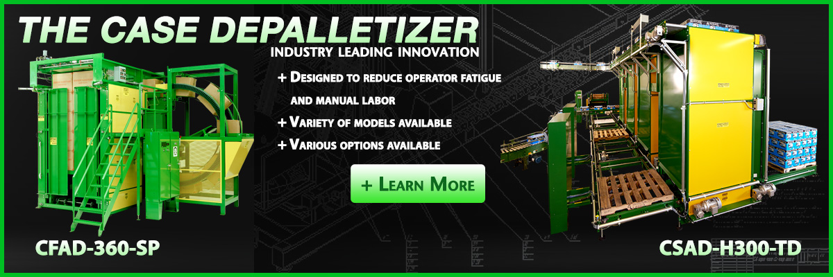 OMS Depalletizers are made to last and build to suite.