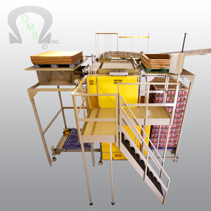 Ouellette Machinery Systems offer pelleting solutions, such as pallet conveyor and competitively priced palletizer parts