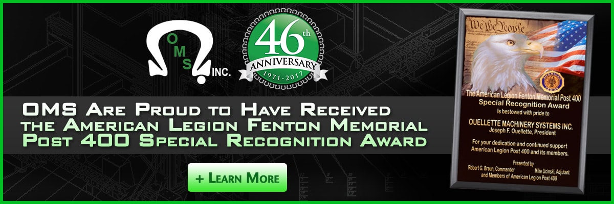 OMS are proud to have received the American Legion Fenton Memorial Post 400 Special Recognition Award