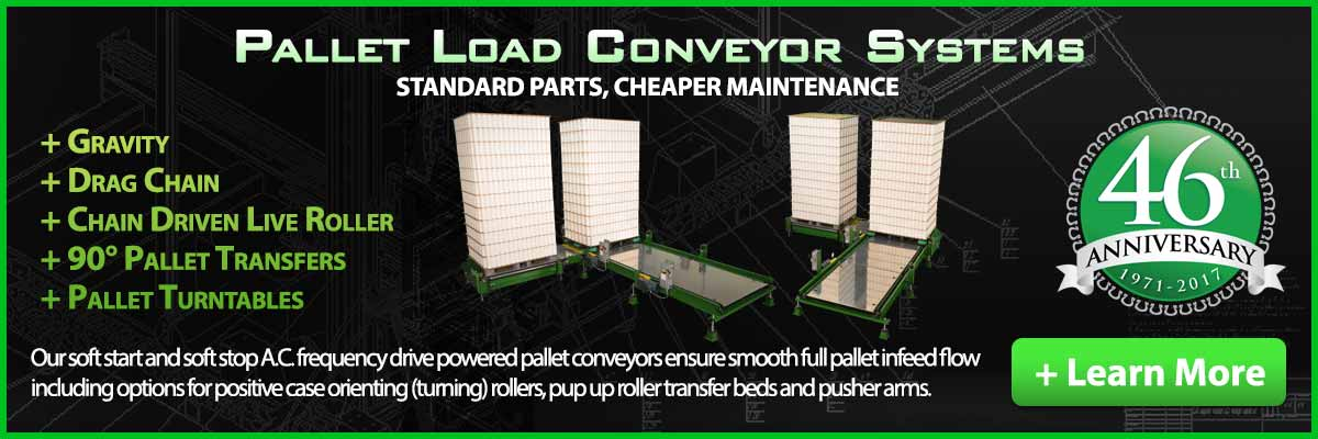 Pallet Load Conveyor Systems & Pallet Conveyor Turntable