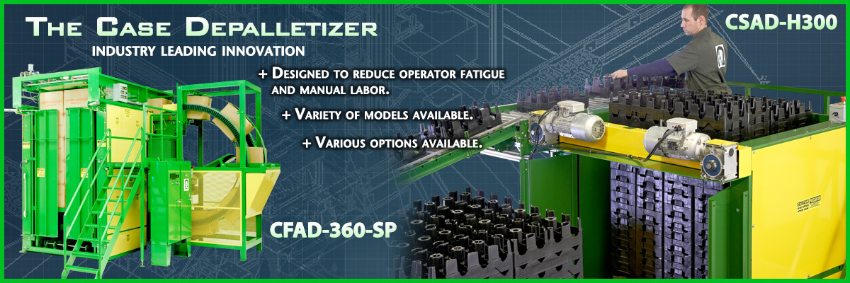 OMS's Case Palletizers can be used with our other systems to create a custom build design.