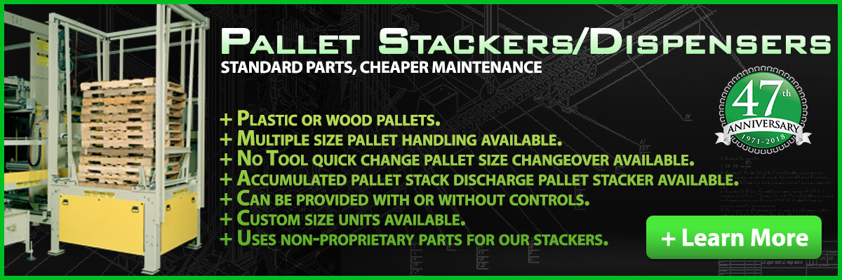 Learn about OMS's Pallet Stackers and Pallet Dispensers