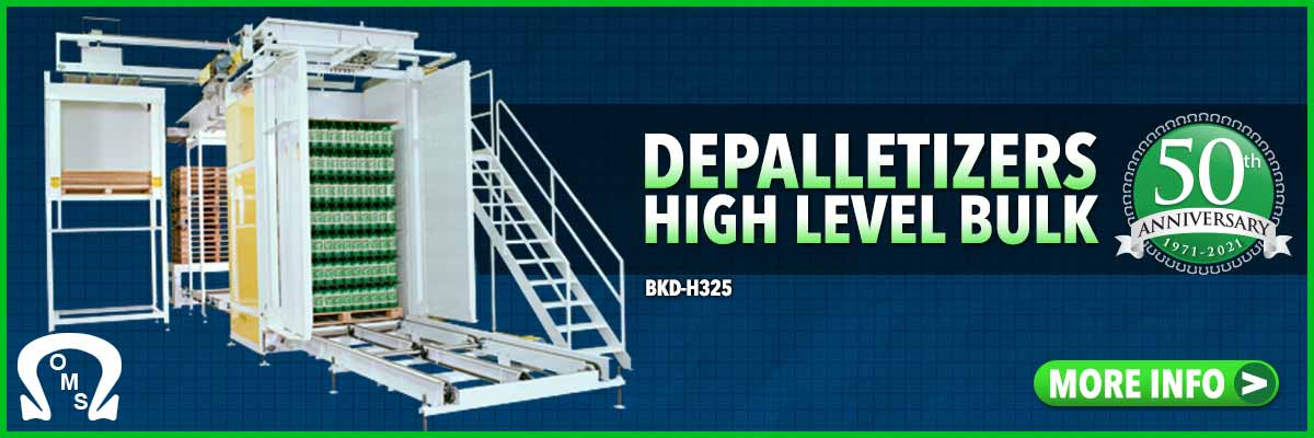 depalletizers high level discharge-bulk